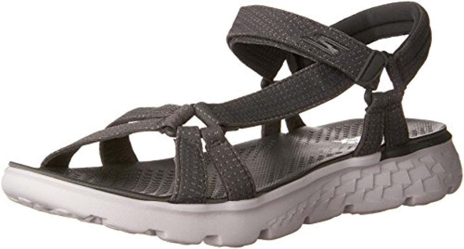 3e7e63118430 Skechers On-the-go 400-radiance Heels Sandals in Gray - Lyst