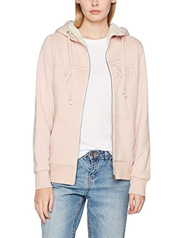 Vans Hearsay Zip Hoodie in Pink - Lyst 4b5bd0c097