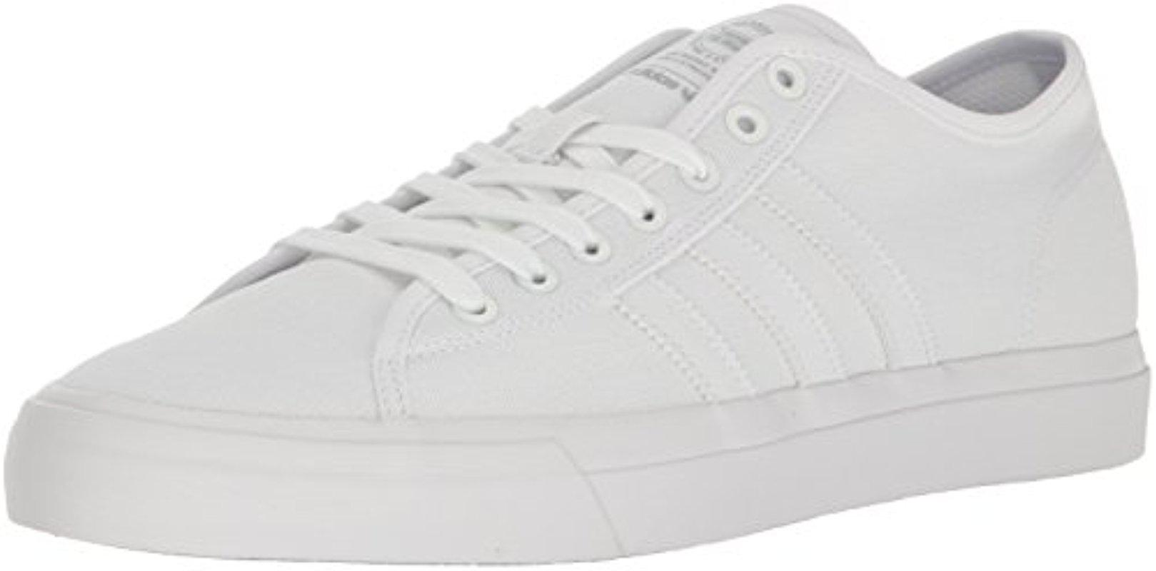 adidas Originals Mens Matchcourt RX Shoes White/White/White 7.5 M US