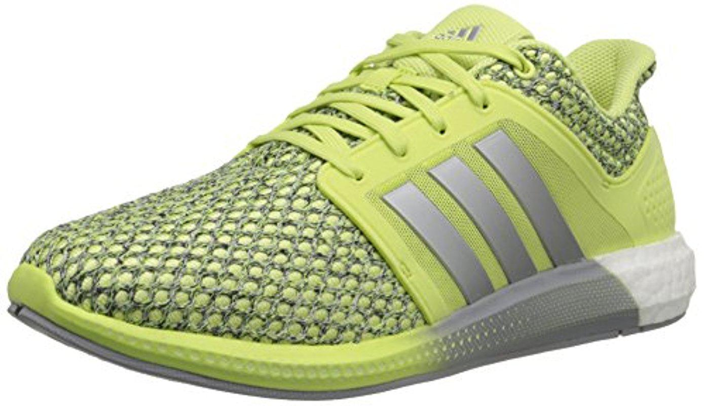 adidas Performance Womens Solar Boost Running Shoe Yellow/Silver/White 9.5 M