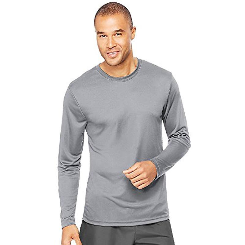 6c993785c Lyst - Hanes Long Sleeve Cool Dri T-shirt Upf 50+ (pack Of 2) in ...