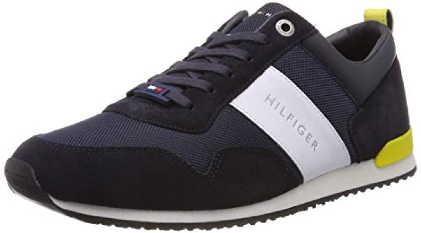24f2b4ef Tommy Hilfiger 's Iconic Material Mix Runner Low-top Sneakers in ...