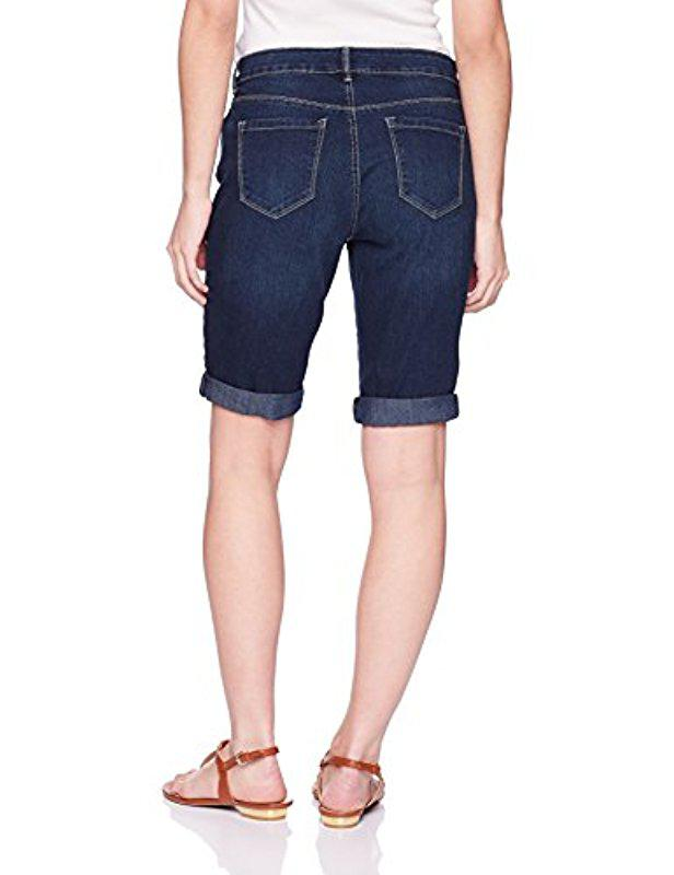 d763d7ed9f Lyst - Bandolino Petite Riley Relaxed Fit Bermuda Short in Blue