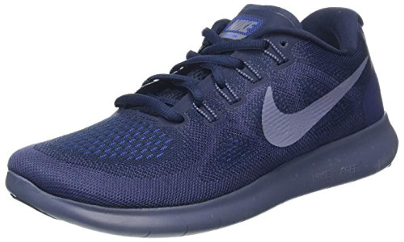 406d0f9c38c Nike Free Rn 2017 Running Shoes in Blue for Men - Save 71% - Lyst