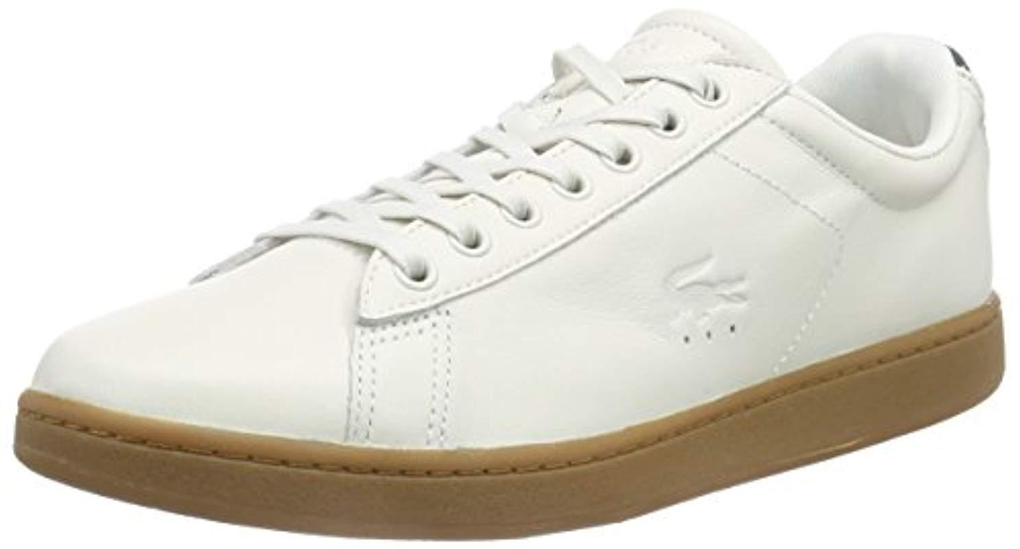7a8ce77fa4550f Lacoste Carnaby Evo 5 Low-top Trainer in White for Men - Lyst