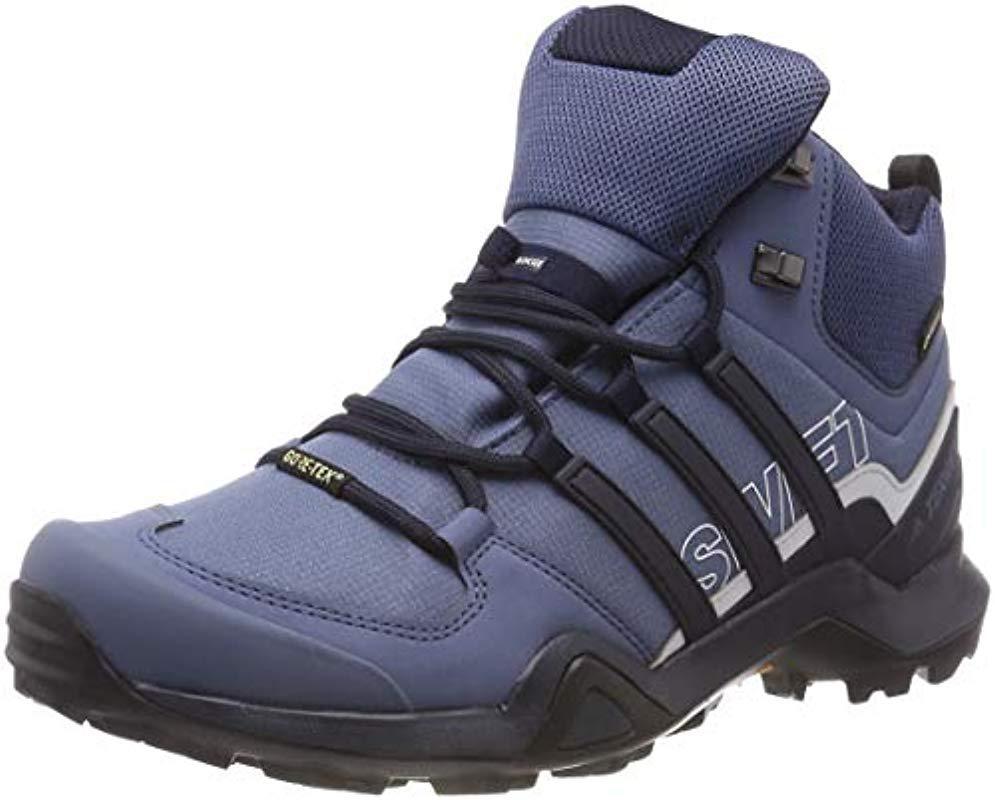 bbd3f89e62e668 adidas Terrex Swift R2 Mid Gtx W High Rise Hiking Boots in Blue - Lyst