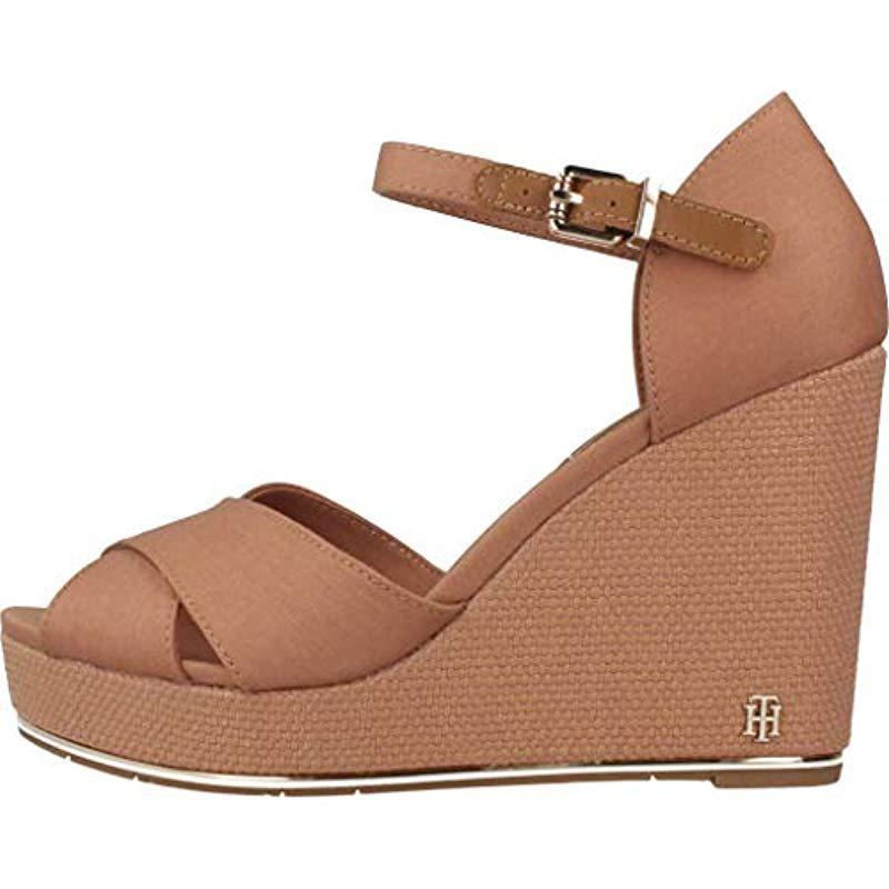 4ba2883c70 Tommy Hilfiger - Brown Feminine Wedge Sandal Basic Platform - Lyst. View  fullscreen