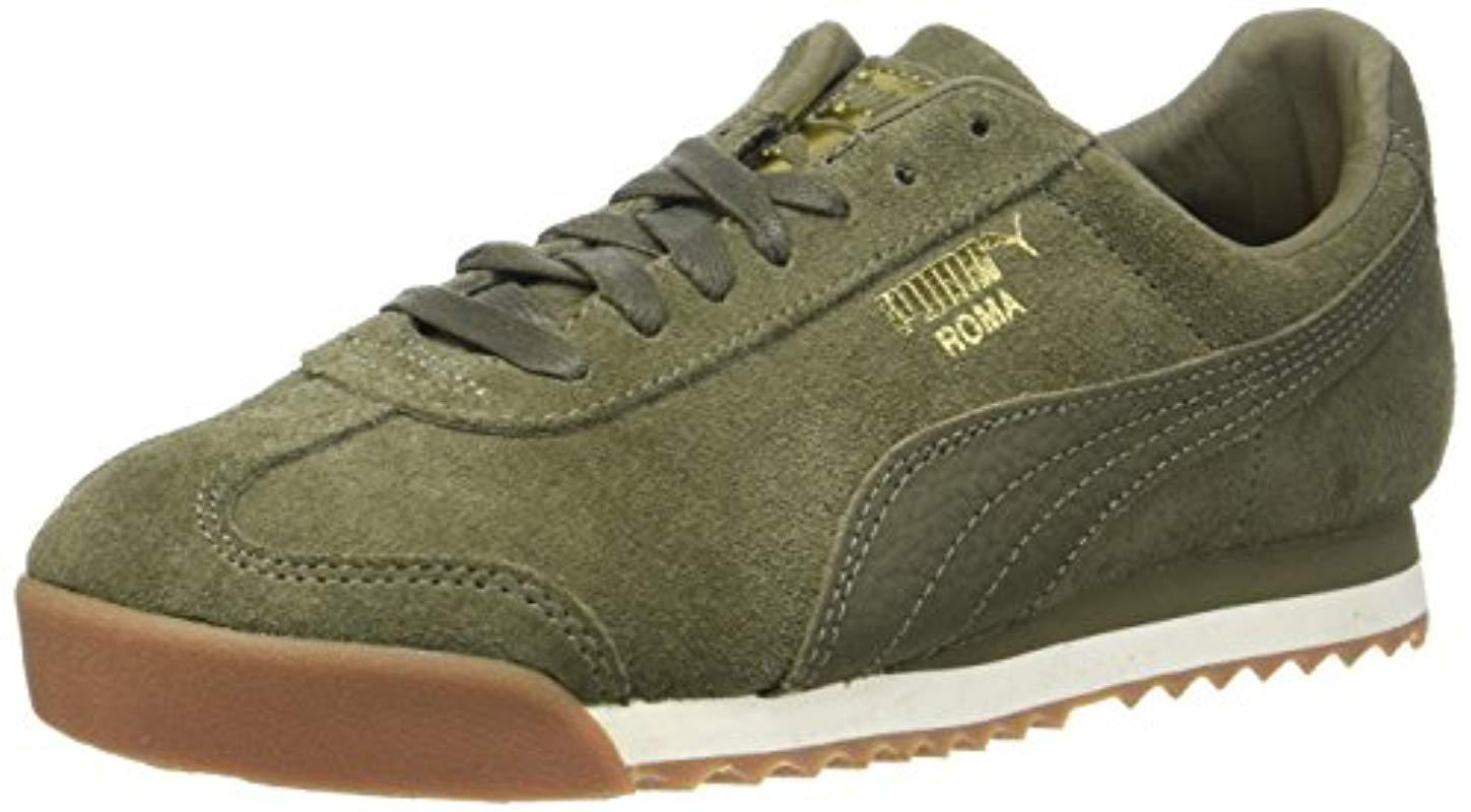 c210363c249 puma-Green-Olive-Night-whisper-White -Unisex-Adults-Roma-Natural-Warmth-Trainers.jpeg