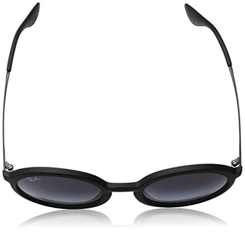 Lyst - Ray-Ban Injected Man Sunglass - Black Rubber Frame Light Grey ...