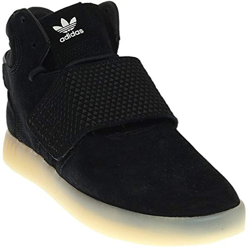Lyst - Adidas Originals Tubular Invader Strap Shoes in Black 6c734729c