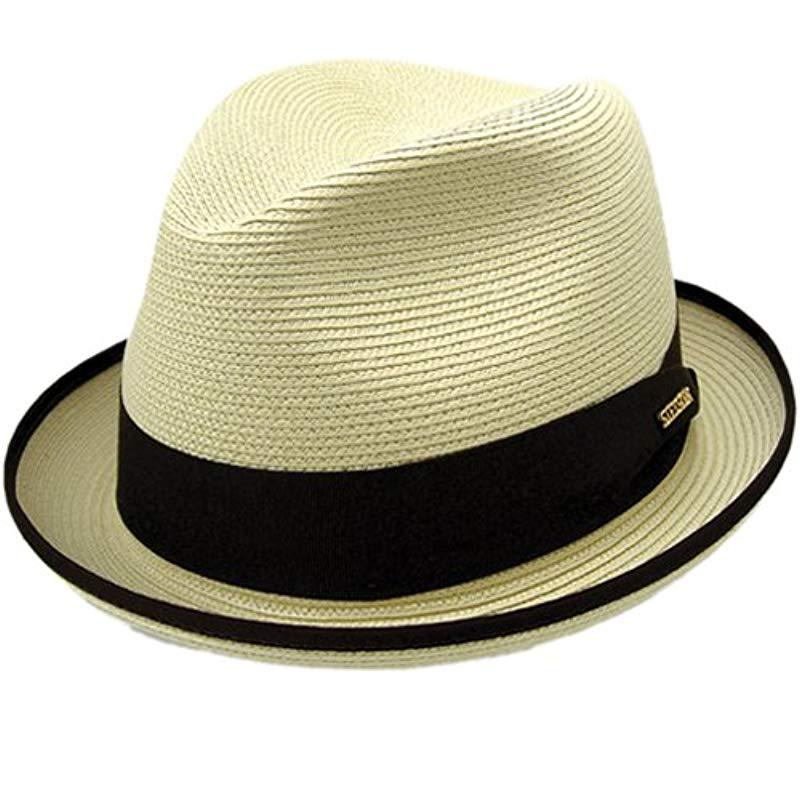 ed1cd86dd81a5e Stetson - Natural Latte Florentine Milan Straw Hat for Men - Lyst. View  fullscreen