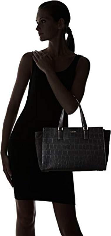 1df9f77b450 Calvin Klein - Shari Croc Large Tote Bag, (black 001), 18x24x49 Cm. View  fullscreen