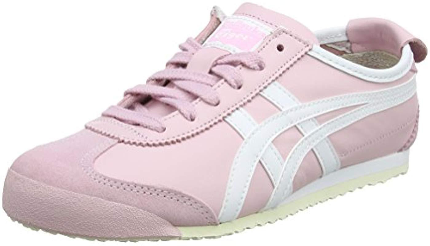 ... usa asics. womens pink onitsuka tiger mexico 66 low top trainers 5b7de  e59a3 55121c207