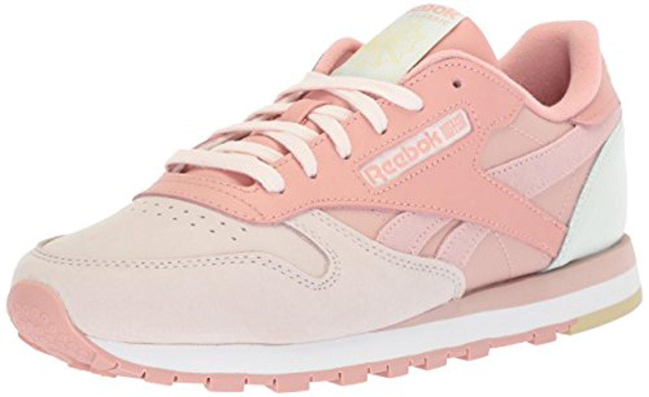 Lyst - Reebok Cl Lthr Pm Walking Shoe in Pink - Save 51% 555bd5b76