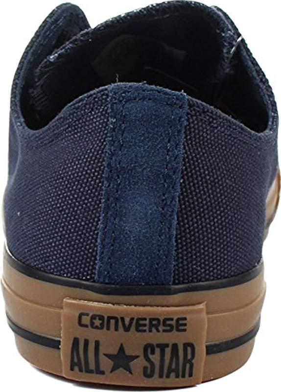 5df592121ee Converse Chuck Taylor All Star Canvas Ox Gum Bottom Shoes in Blue ...