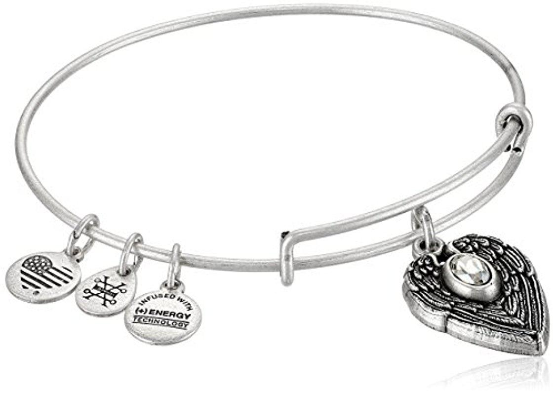 Alex and Ani Path of Symbols Guardian Angel Expandable Wire Bangle Charm Bracelet