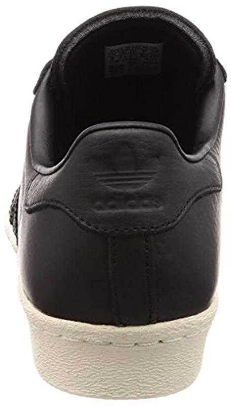 online store 3ec9b 887e7 Adidas - Black Superstar 80s Fitness Shoes for Men - Lyst. View fullscreen