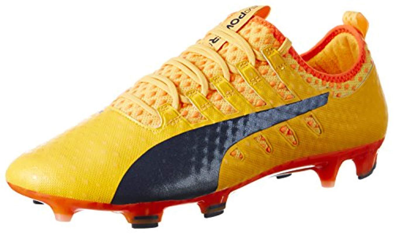 16045054c84ecd PUMA Evopower Vigor 1 Fg Football Boots in Orange for Men - Lyst