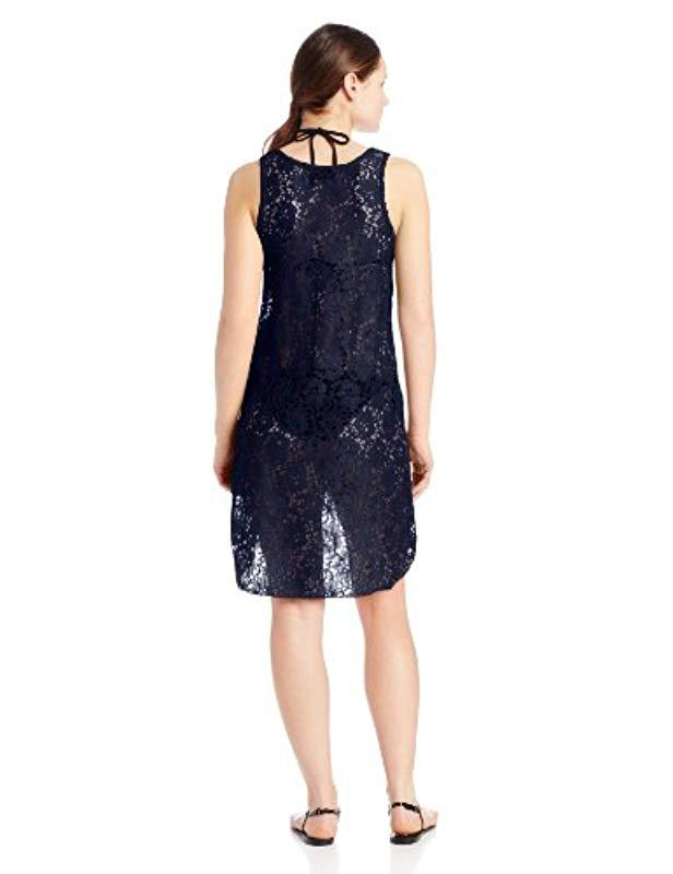 4f4ef8386cee6 Lyst - Gottex Crochet High Low Beach Dress Swimsuit Cover Up in Blue - Save  20.83333333333333%