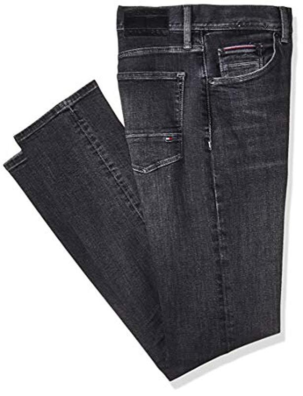 8747d312d Tommy Hilfiger Slim Bleecker Pstr Moore Black Jeans in Black for Men ...