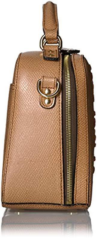 020625ff97 Lyst - Orla Kiely Laced Stem Leather Mini Bay Bag
