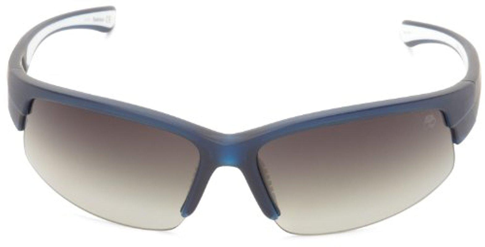 e2d9fff7631 Lyst - Timberland Tb9048sw6992r Polarized Wrap Sunglasses in Blue ...