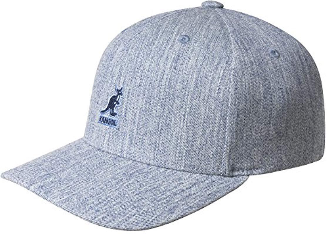 9c7ecef9bd5bf Lyst - Kangol Wool Flexfit Baseball Cap in Blue for Men - Save ...