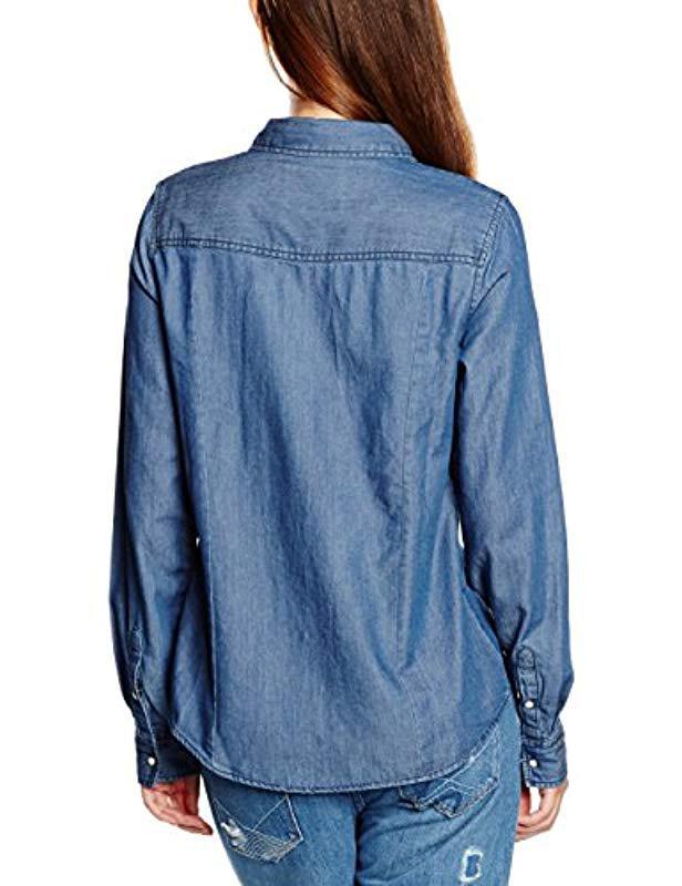 Vero Moda Vmdaisy Denim Shirt Mb Noos Blouse in Blue - Lyst cbf0a844be64