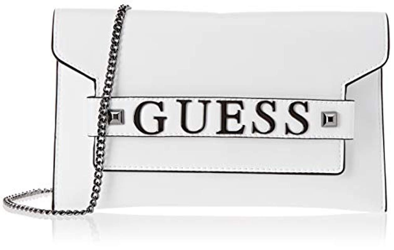 Guess Felix Crossbody Clutch Hwwm6876730 in White - Lyst b7c571d33033f