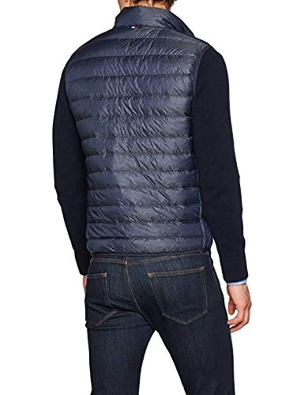 99c980f2a71 Tommy Hilfiger  s Lw Heather Down Vest Casual Shirt in Blue for Men - Lyst