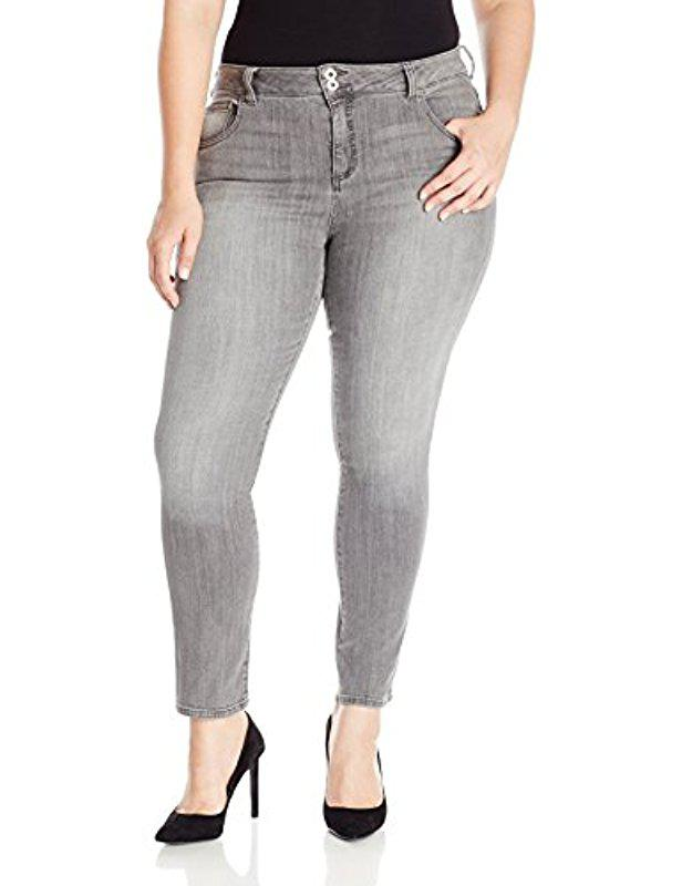 f79dac853e4 Lyst - Lucky Brand Plus Size High Rise Emma Straight Jean In Mystic ...