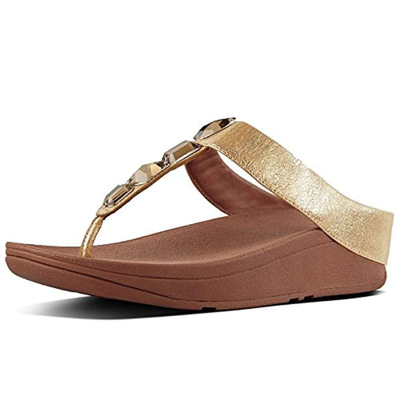 fbf17c95aa1a58 Fitflop Roka Toe-thong Platform Sandals in Brown - Lyst