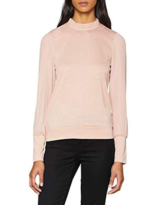 Vero Moda Vmpippa Ls Top Vest in Pink - Lyst c695d12bb280