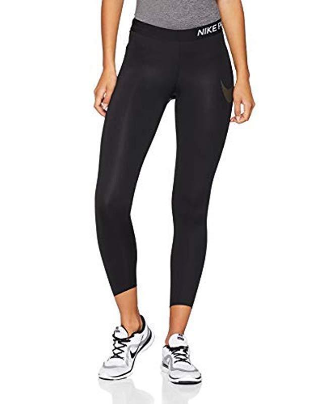 6a20264aef1b8 Nike 's Sports Tights in Black - Lyst