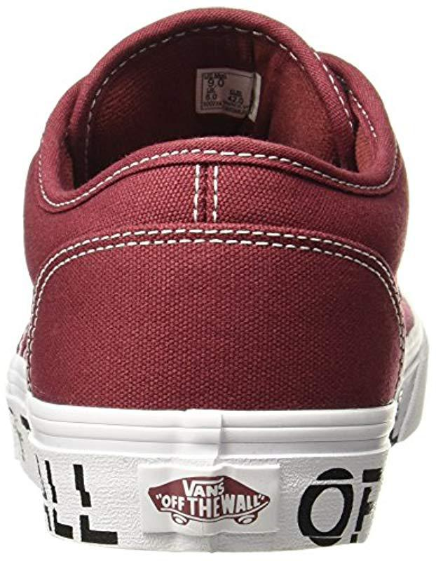b6e70865ef Vans Atwood Trainers in Red for Men - Lyst