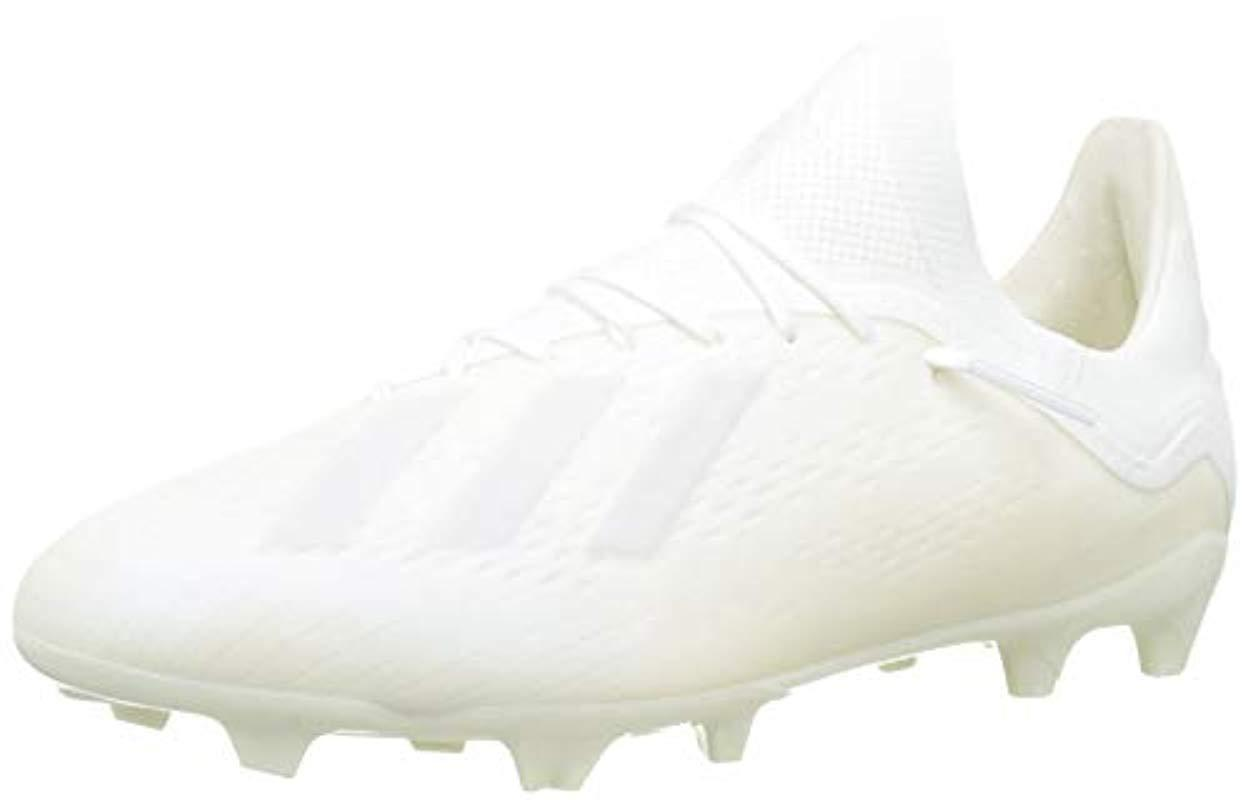 690fc8110 adidas Unisex Adults  X 18.1 Fg J Football Boots in White for Men - Lyst