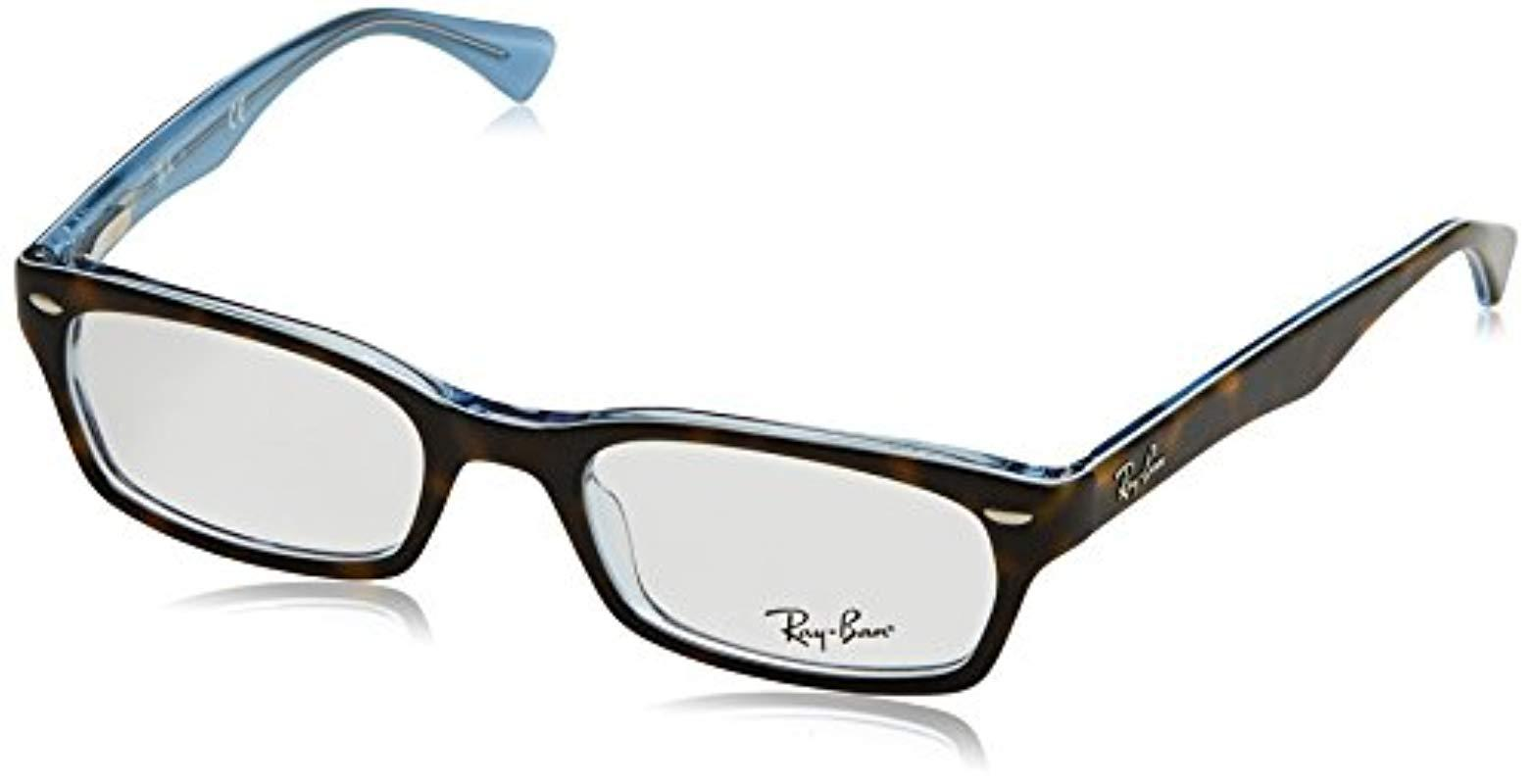 36e129a0e6 Ray-Ban Rx5150 Glasses In Havana On Azure Rx5150 5023 50 in Black - Lyst