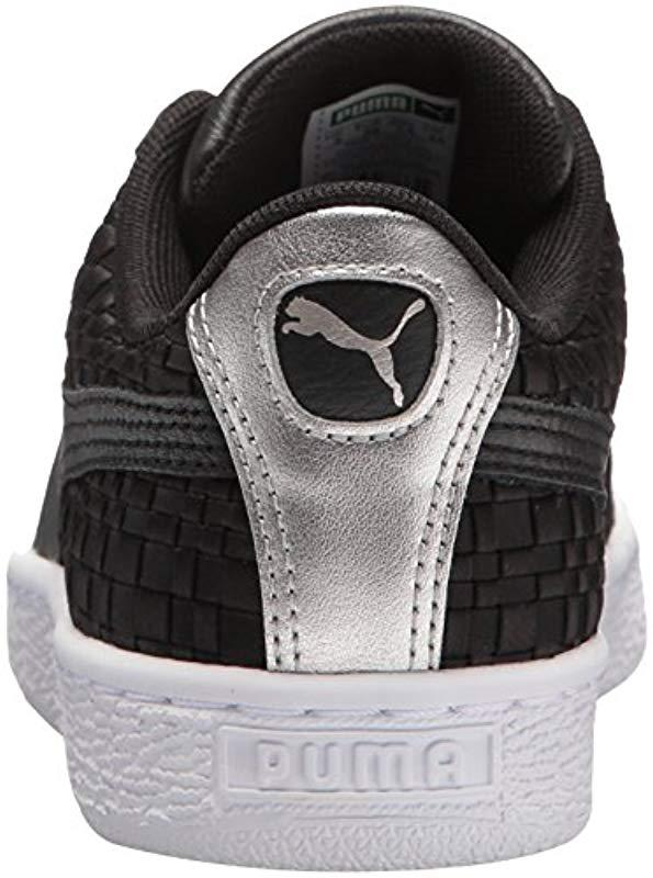 ceb91eecb4586d PUMA - Black Basket Satin En Pointe Wn Sneaker - Lyst. View fullscreen