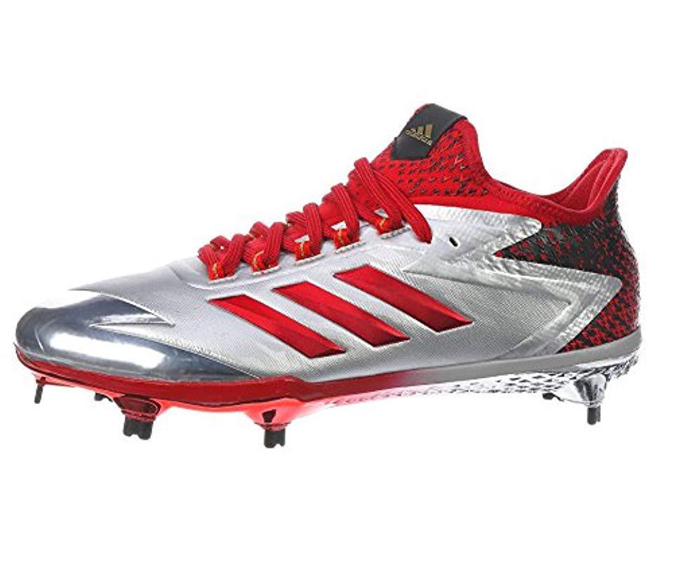4e093c683cc21e Lyst - Adidas Adizero Afterburner 4 Baseball Shoe in Red for Men