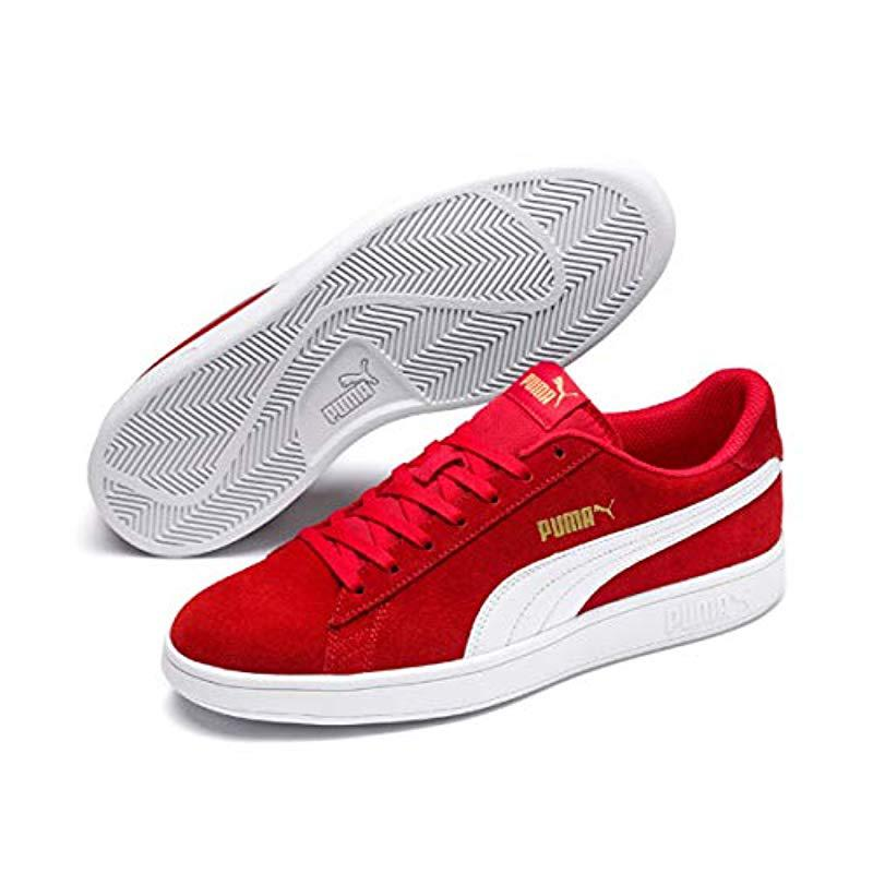 8193e3671090 Puma Unisex Adults  Smash V2 Low-top Sneakers in Red - Lyst