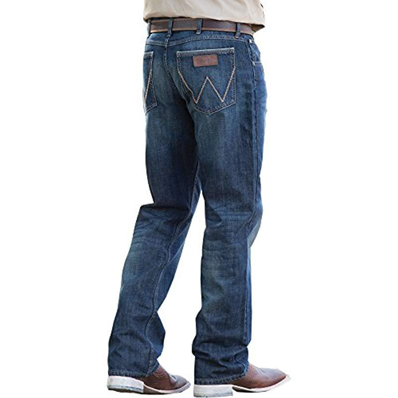 156571b2 Lyst - Wrangler Retro Relaxed Fit Bootcut Jean in Blue for Men