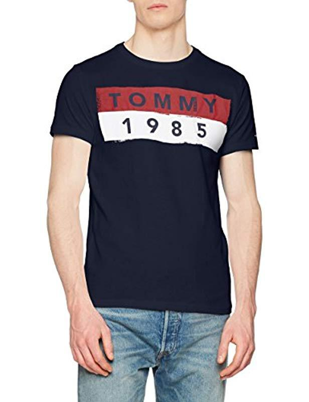 40c6c4dc Tommy Hilfiger Basic Short Sleeve Crew Neck T-shirt in Blue for Men ...