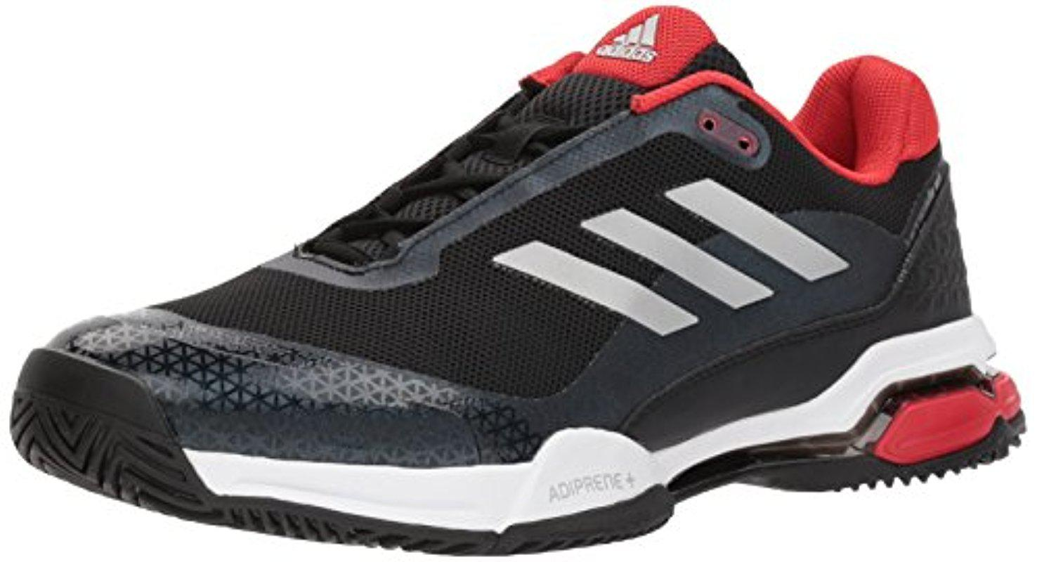 Lyst adidas performance barricata club scarpa da tennis, nero / opaca