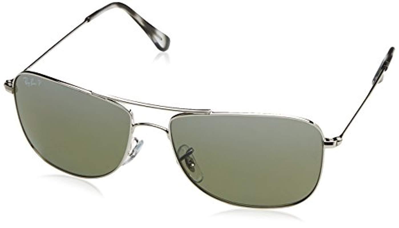 08fbe7a57f5 Ray-Ban. Men s Metallic Aviator Sunglasses In Silver Mirror Chromance  Polarised Rb3543 003 5j 59