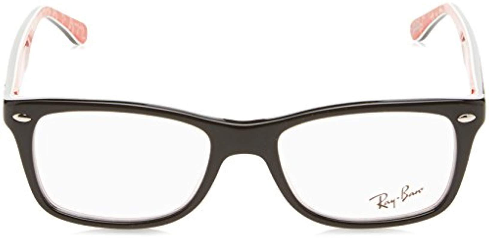 f6a48eacc232c2 Ray-Ban Rayban 0rx 5228 5405 53 Optical Frames, Black in Black - Lyst