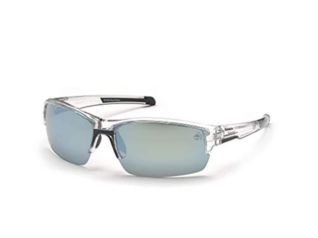 b132085ba3 Timberland. Men's Tb9173 Sunglasses, Transparent (crystal/smoke Polarized)  ...