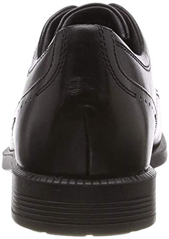deb4c75528f Rockport Dp Modern Cap Toe Black Lea Oxfords in Black for Men - Lyst