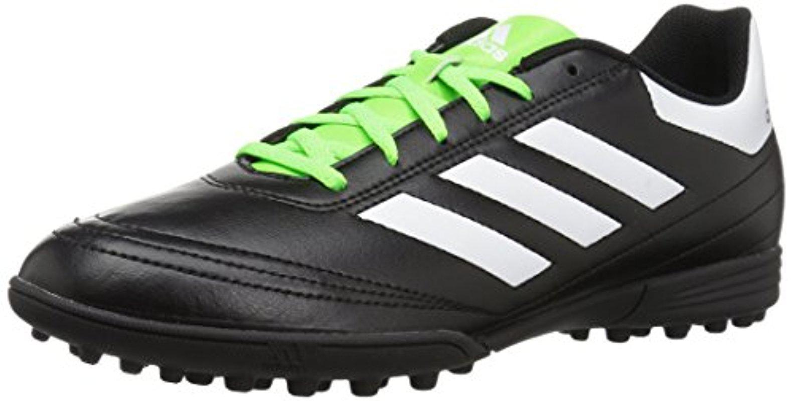 lyst adidas goletto vi tf scarpe, nero / bianco / verde solare, 9