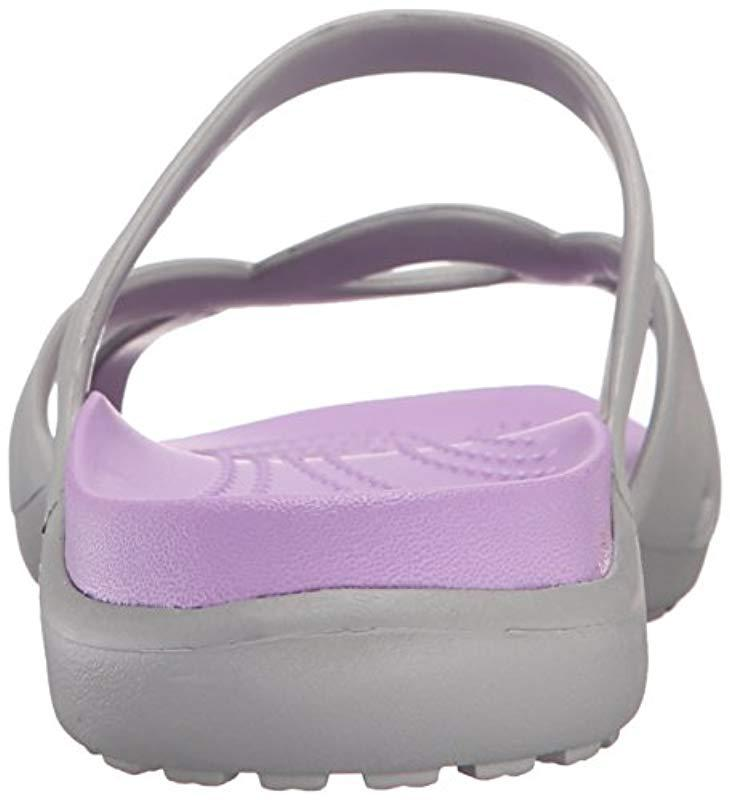 127bb024ffb Crocs™  s Meleen Twist Open Back Slippers (silver iris)