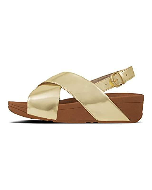 ef872dbeab4d Fitflop  s Lulu Back Mirror Ankle Strap Sandals in Metallic - Lyst